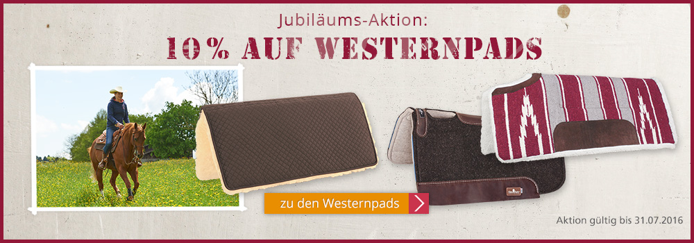 Jubil�ums-Aktion: 10% auf Westernpads